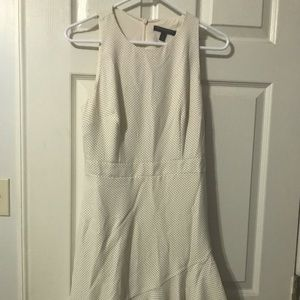 Off white poka dot banana republic dress